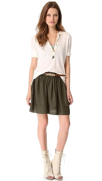 Graham & Spencer Washed Silk Skirt