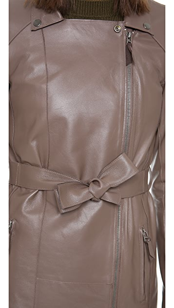 Graham & Spencer Leather Trench Coat