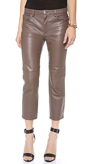 Graham & Spencer Cropped Leather Trousers