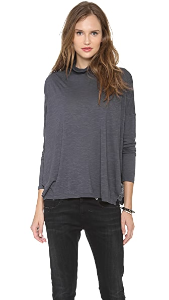 Graham & Spencer Twist Slub Turtleneck