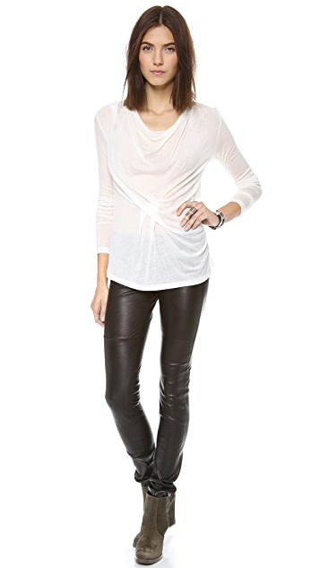 Graham & Spencer Stretch Leather Pants