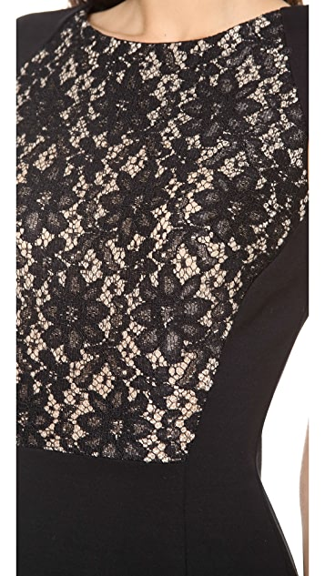 Graham & Spencer Ponti Dress with Lace Detail