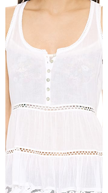 Graham & Spencer Cotton Scoop Neck Blouse