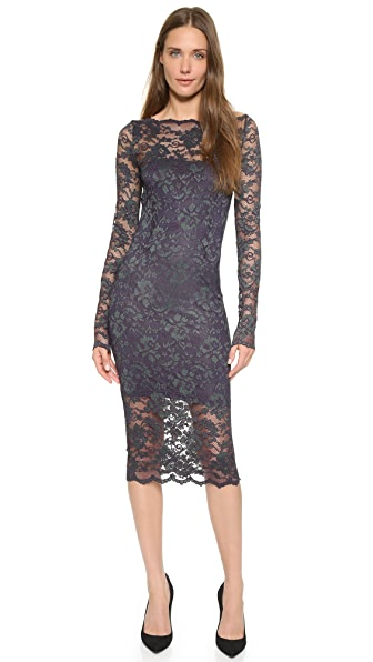 Ganni Broad Street Dress - Ebony/Smoked Pearl