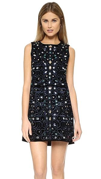 Ganni Love Velvet Mini Dress