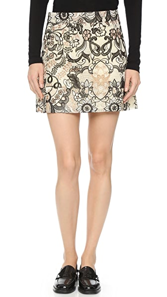 Ganni Turlington Lace Miniskirt