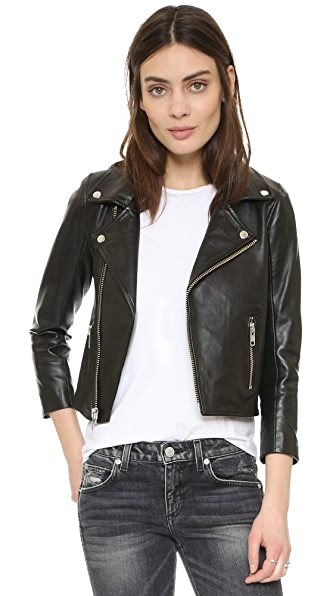 Ganni Biker Jacket - Black