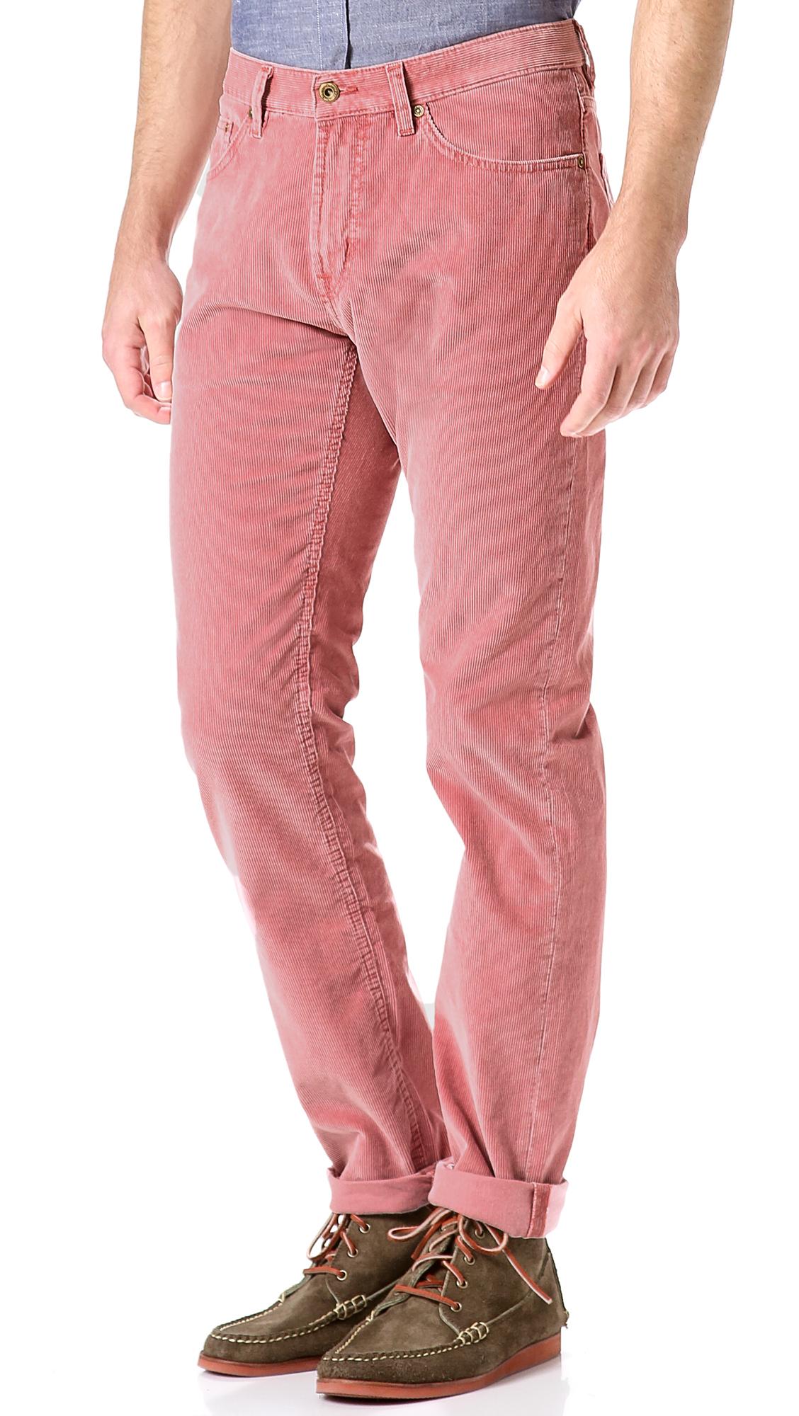 pink corduroy pants - Pi Pants
