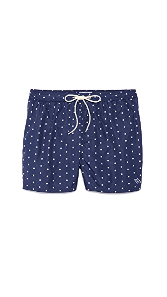 Gant Rugger Polka Dot Swim Trunks