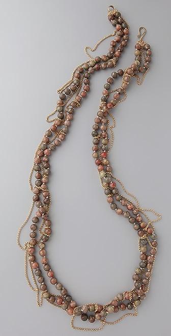 Gara Danielle Unakite & Chain Necklace