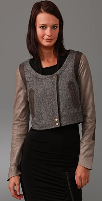 GAR-DE Ventoux Tweed Jacket with Suede Sleeves