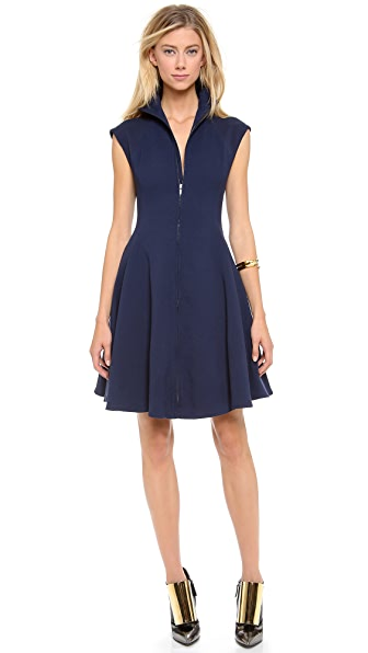 Gareth Pugh Crepe Cap Sleeve Dress