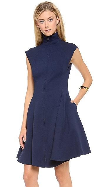 Gareth Pugh Crepe Cap Sleeve Dress