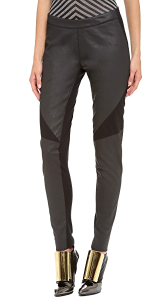 Gareth Pugh Light Seamed Leggings