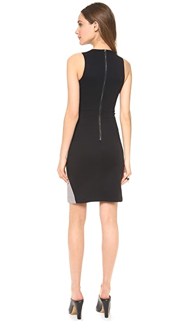 Gareth Pugh Leather Panel Sheath Dress