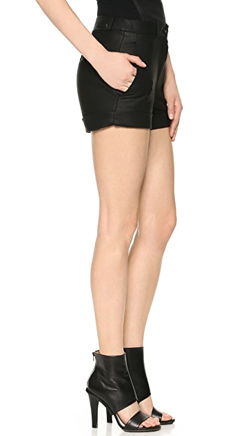 Gareth Pugh Tailored Leather Shorts