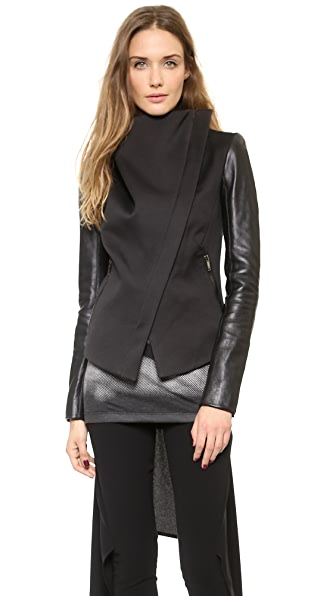 Gareth Pugh Leather Sleeve Jacket