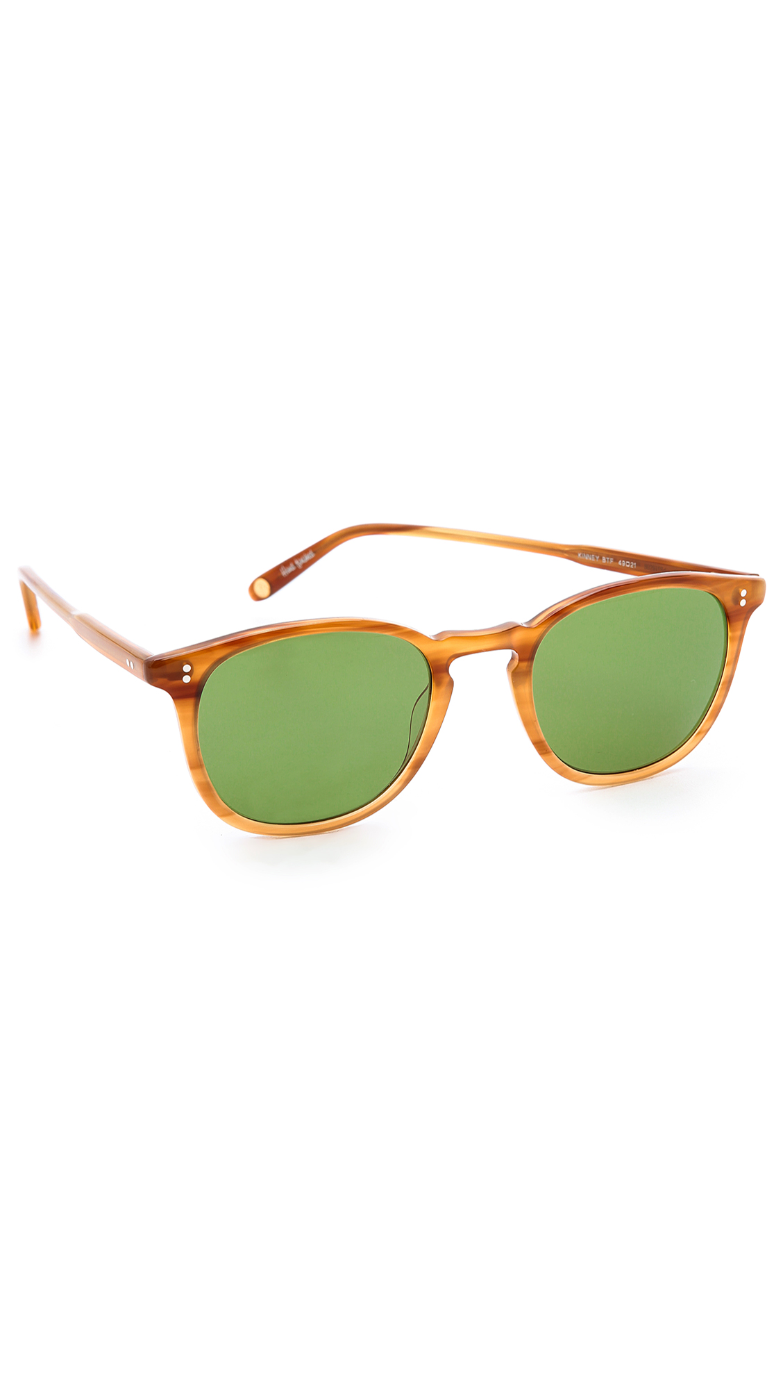 GARRETT LEIGHT Kinney Sunglasses - Blonde Tortoise Fade/Green