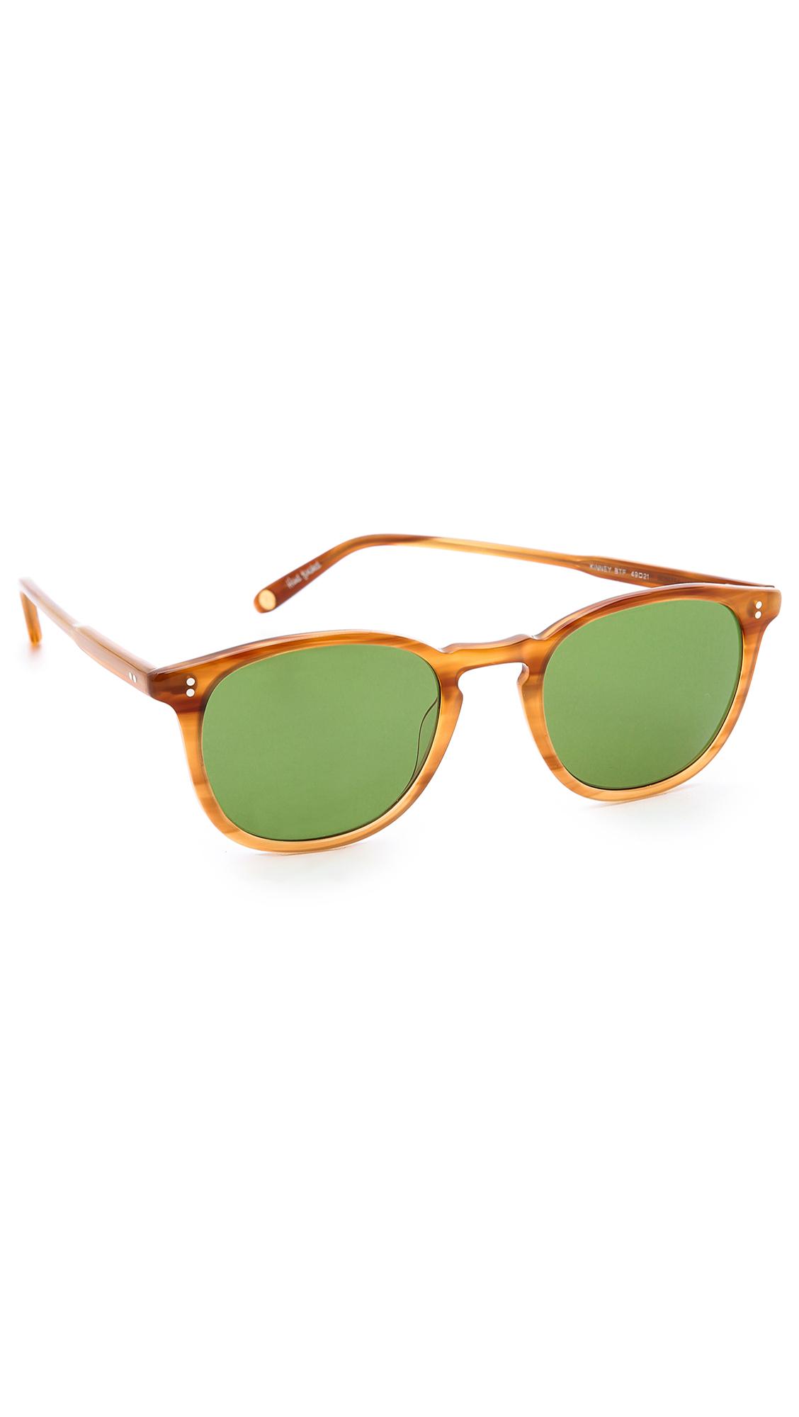 GARRETT LEIGHT Kinney Sunglasses - Blonde Tortoise Fade/Green