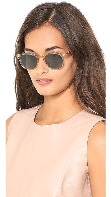 GARRETT LEIGHT Kinney Polar Sunglasses