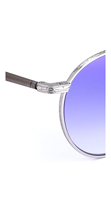 GARRETT LEIGHT Wilson Mirrored Sunglasses
