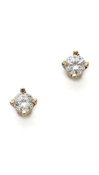 Gabriela Artigas White Diamond Stud Earrings