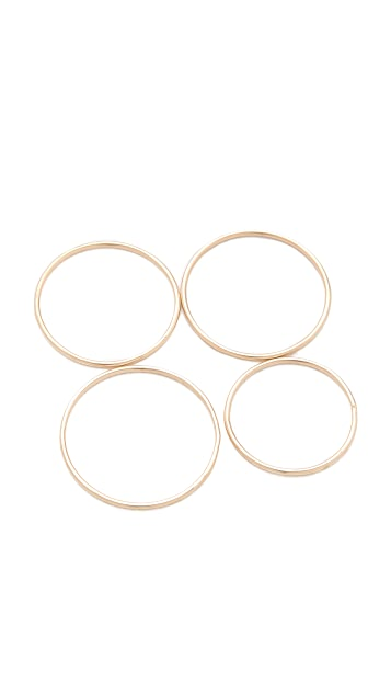 Gabriela Artigas Yellow Simple Band Rings