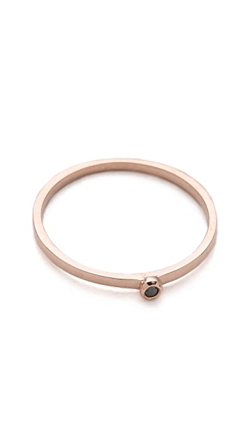 Gabriela Artigas Single Black Diamond Ring
