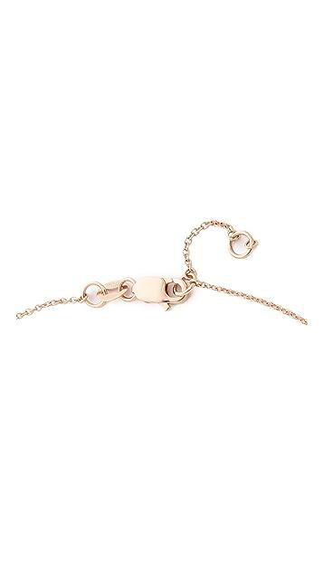 Gabriela Artigas 14k Rose Gold Bar Diamond Necklace