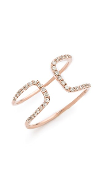 Gabriela Artigas White Diamond Cutout Ring