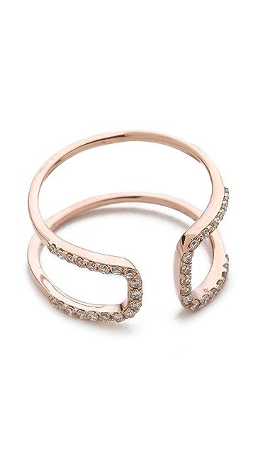 Gabriela Artigas White Diamond Cutout Ring