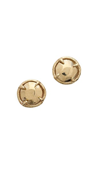 Gabriela Artigas Golden Solitaire Stud Earrings