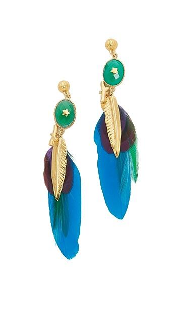 GAS Bijoux Serti Plume Earrings