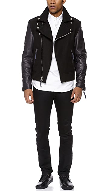 Golden Bear Ashbury Jacket with Leather Sleeves