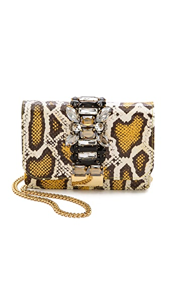 Gedebe Clicky Snakeskin Shoulder Bag