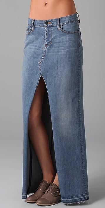 Genetic Los Angeles Chloe Open Front Long Skirt