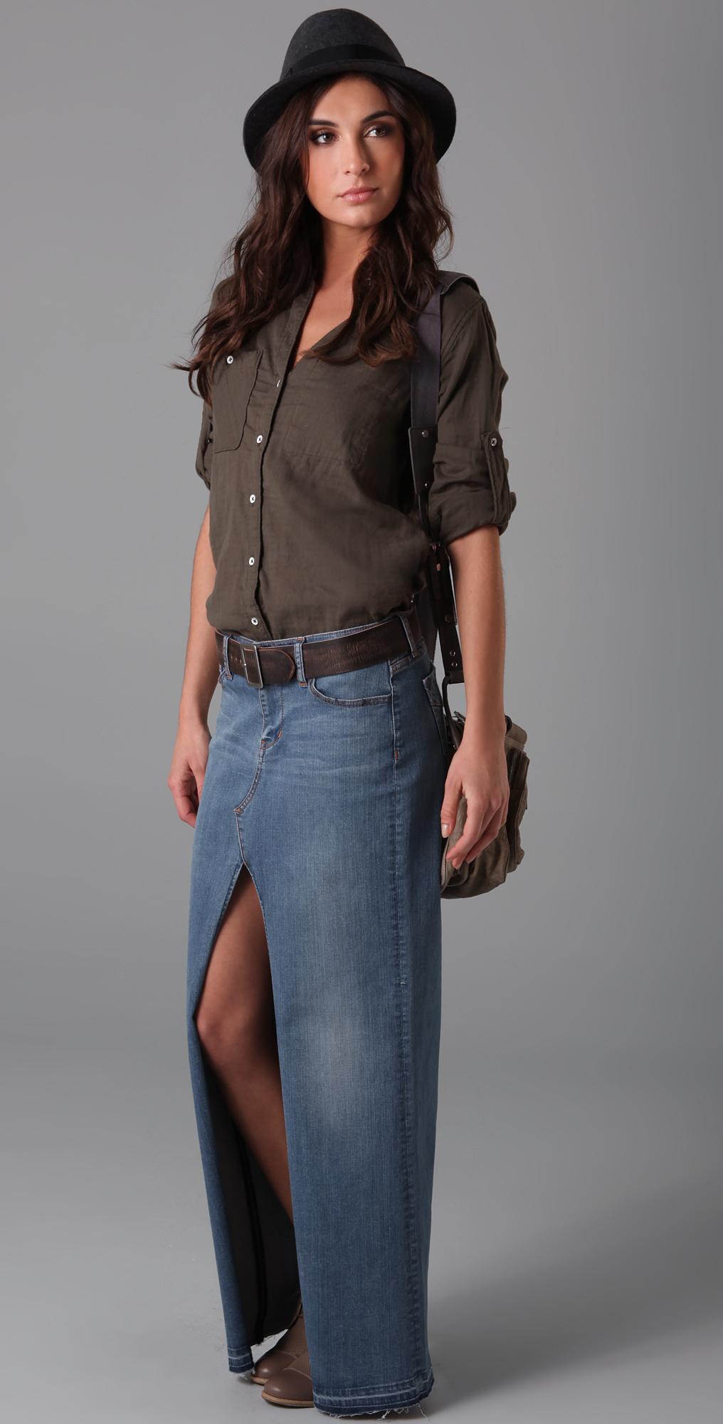 Genetic Los Angeles Chloe Open Front Long Skirt | SHOPBOP