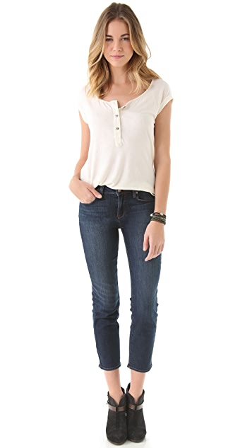 Genetic Los Angeles Emma High Rise Cropped Jeans