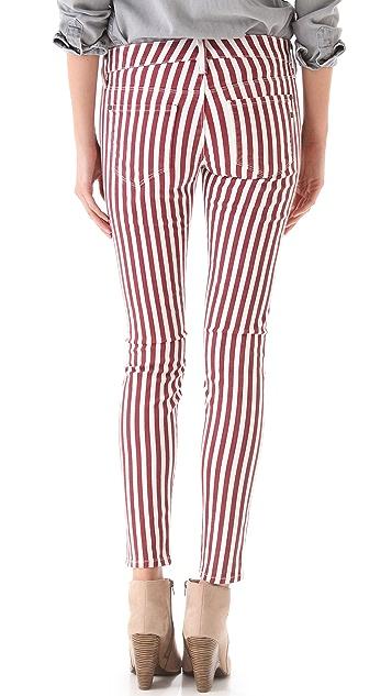 Genetic Los Angeles Shya Striped Cigarette Jeans