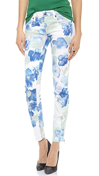 Genetic Los Angeles James Floral Lurex Skinny Jeans