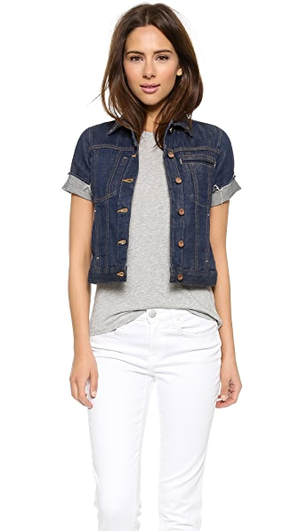 Genetic Los Angeles Blondie Short Sleeve Denim Jacket | SHOPBOP