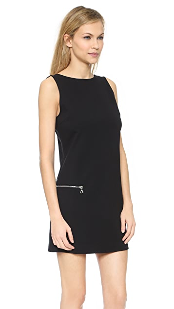 GETTING BACK TO SQUARE ONE Sleeveless Dress with Zip