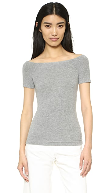 GETTING BACK TO SQUARE ONE Off Shoulder Tee
