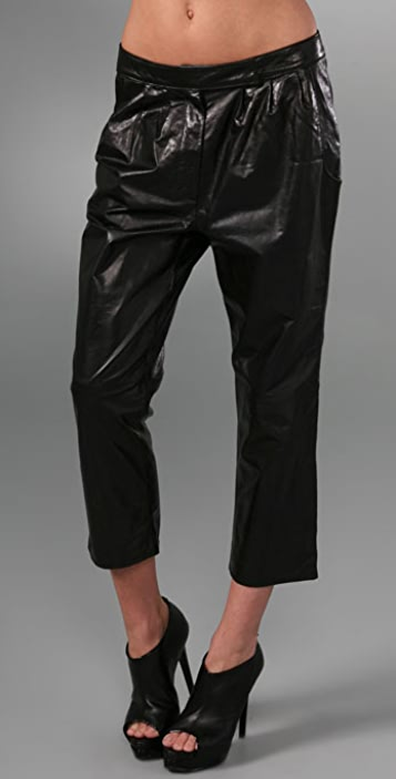Geren Ford Pleated Leather Pants