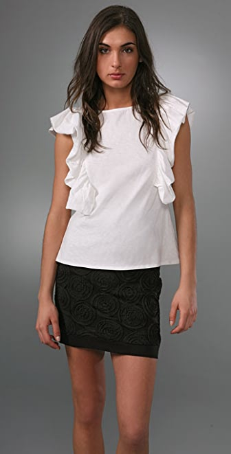 Geren Ford Ruffle Arm Tee