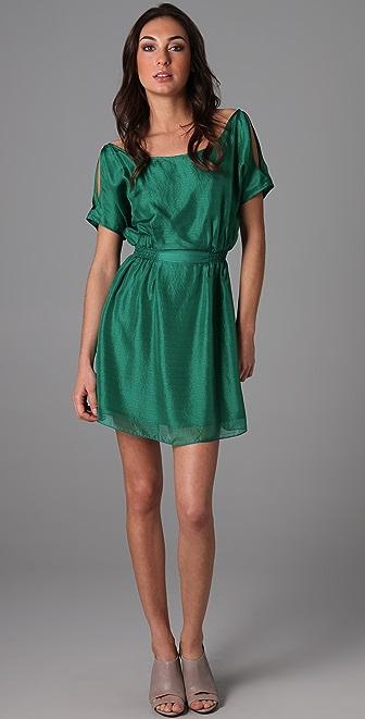 Geren Ford Slash Shoulder Dress