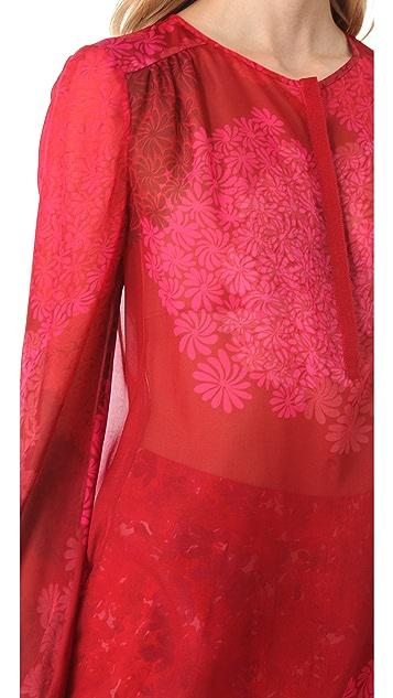 Giambattista Valli Printed Long Sleeve Blouse