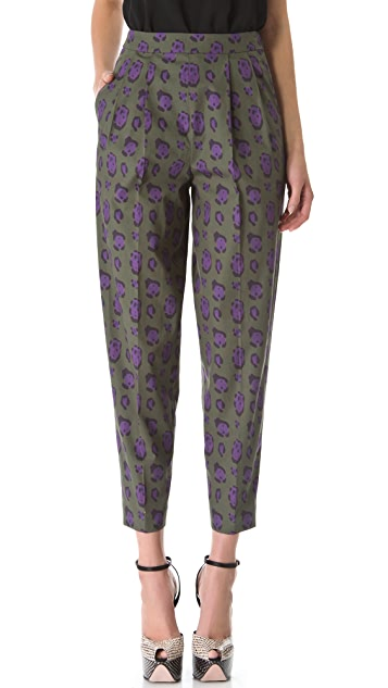 Giambattista Valli Leopard Cropped Pants