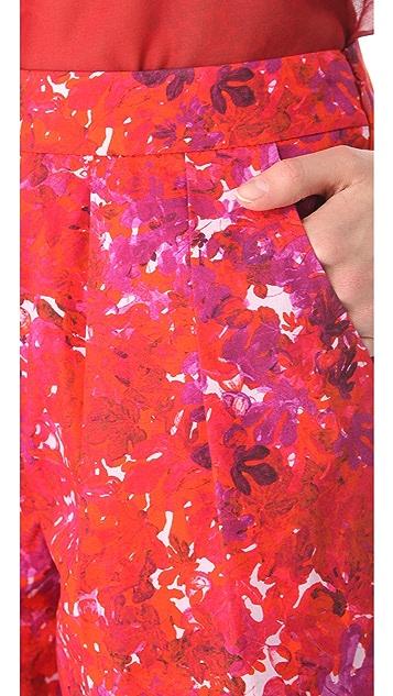 Giambattista Valli Floral Printed Cotton Shorts