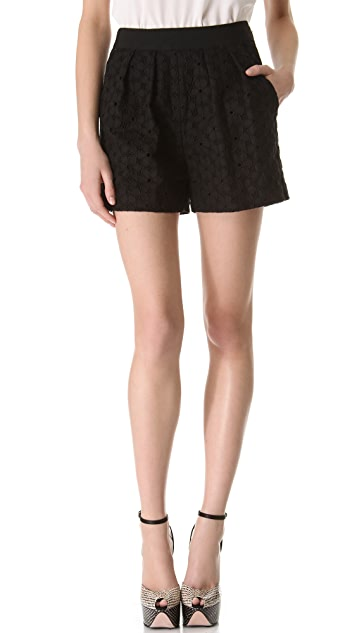 Giambattista Valli Sangallo Black Shorts
